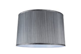 "# 32253 Transitional Hardback Empire Shaped Spider Construction Lamp Shade in Black Cotton, 18"" wide (17"" x 18"" x 11 1/2"")"