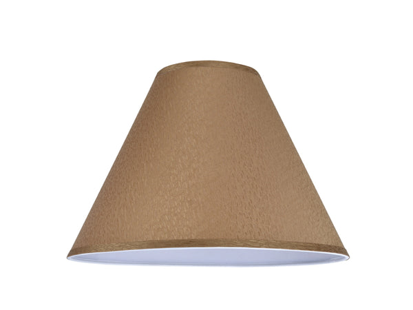 "# 32266 Transitional Hardback Empire Shape Spider Construction Lamp Shade in Textured Khaki, 16"" wide (6"" x 16"" x 12"")"