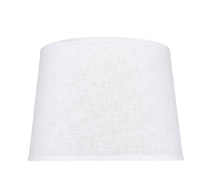 "# 32309 Transitional Hardback Empire Shaped Spider Construction Lamp Shade in White, 14"" wide (12"" x 14"" x 10"")"