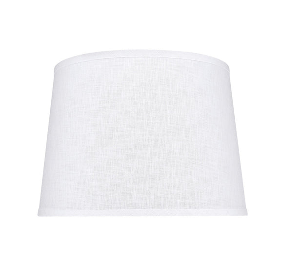 # 32309 Transitional Hardback Empire Shaped Spider Construction Lamp Shade in White, 14