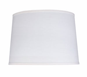 "# 32326  Transitional Hardback Empire Shaped Spider Contruction Lamp Shade in White Fabric, 17"" wide (15"" x 17"" x 12"")"