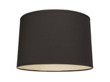 "# 32346 Transitional Hardback Empire Shaped Spider Construction Lamp Shade in Black, 16"" wide (15"" x 16"" x 10"")"