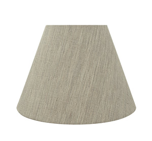 "# 32367 Transitional Hardback Empire Shaped Spider Construction Lamp Shade in Light Grey, 14"" wide (7"" x 14"" x 10"")"