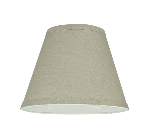 "# 32416 Transitional Hardback Empire Shape Spider Construction Lamp Shade in Khaki, 9"" wide (5"" x 9"" x 7"")"