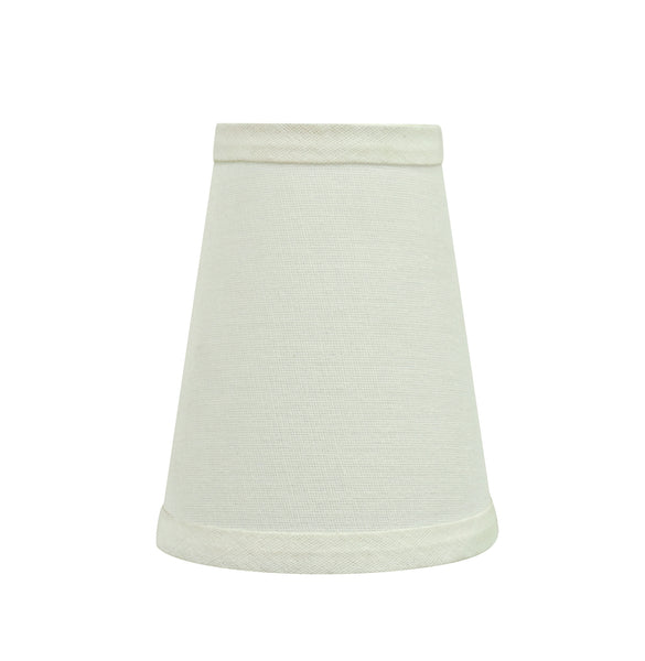 "# 32654-X Small Hardback Empire Shape Chandelier Clip-On Lamp Shade Set of 2, 5, 6,and 9, Transitional Design in Off White, 4"" bottom width (2 1/2"" x 4"" x 5"" )"