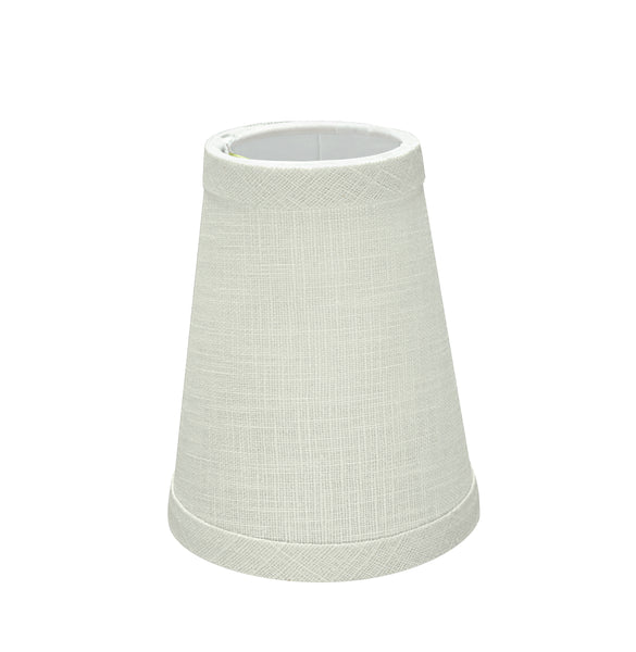 "# 32664-X Small Hardback Empire Shape Chandelier Clip-On Lamp Shade Set of 2, 5, 6,and 9, Transitional Design in White, 4"" bottom width (2-1/2"" x 4"" x 5"")"