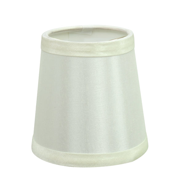 "# 32712-X Small Hardback Empire Shape Chandelier Clip-On Lamp Shade Set of 2, 5, 6,and 9, Transitional Design in Off White, 4"" bottom width (3"" x 4"" x 4"" )"