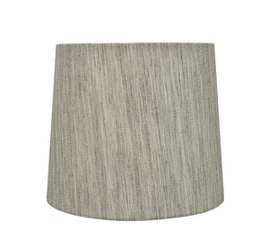 "# 32743 Transitional Hardback Empire Shaped Spider Construction Lamp Shade in Light Grey, 10-1/2"" wide (9"" x 10-1/2"" x 9"")"