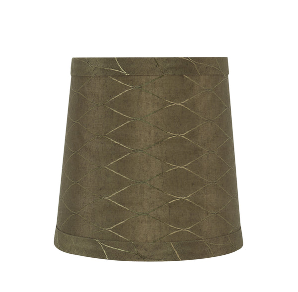 "# 32833-X Small Hardback Empire Shape Chandelier Clip-On Lamp Shade Set of 2, 5, 6,and 9, Transitional Design in Light Brown, 5"" bottom width (4"" x 5"" x 5"")"