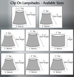"# 32861-X Small Hardback Empire Shape Chandelier Clip-On Lamp Shade Set of 2, 5, 6,and 9, Transitional Design in Light Grey, 5"" bottom width (4"" x 6"" x 5"")"
