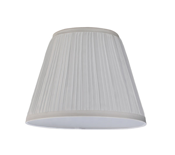 "# 33006 Transitional Pleated Empire Shape Spider Construction Lamp Shade in Off White Cotton Fabric, 9"" wide (5"" x 9"" x 7"")"