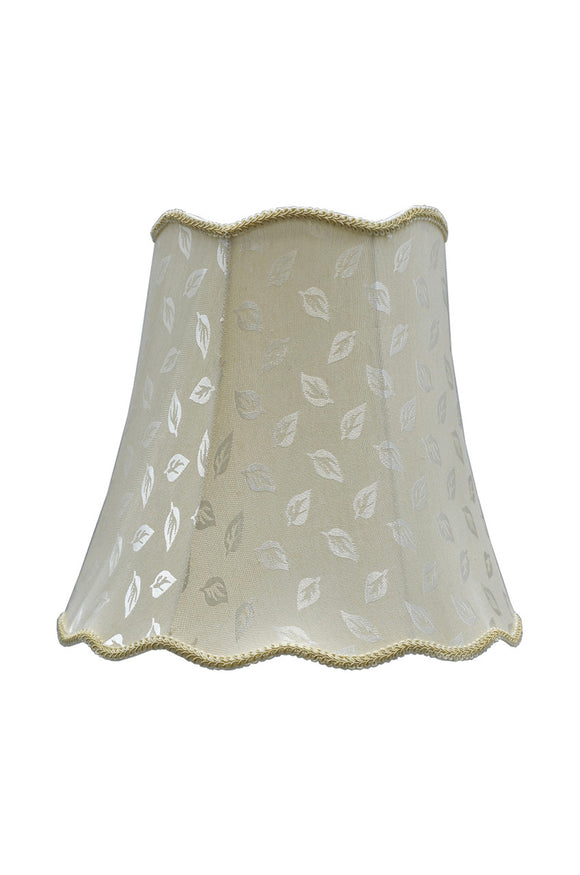 # 34003 Transitional Scallop Bell Shape Spider Construction Lamp Shade in Butter Creme Fabric, 16