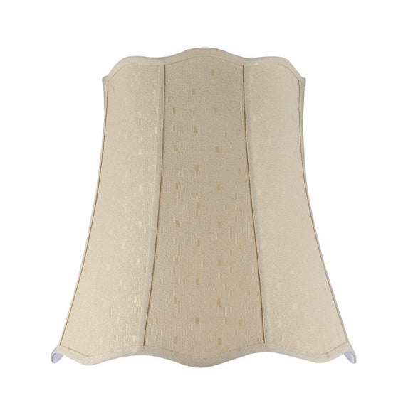 # 34026 Transitional Scallop Bell Shape Spider Construction Lamp Shade in Beige Textured Fabric, 20