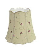 "# 34062 Transitional Scallop Bell Shape Spider Construction Lamp Shade in Apricot, 16"" wide (10"" x 16"" x 15"")"
