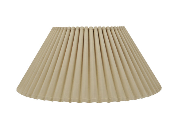 # 34086 Transitional Pleated Empire Shaped Spider Construction Lamp Shade in Beige, 18