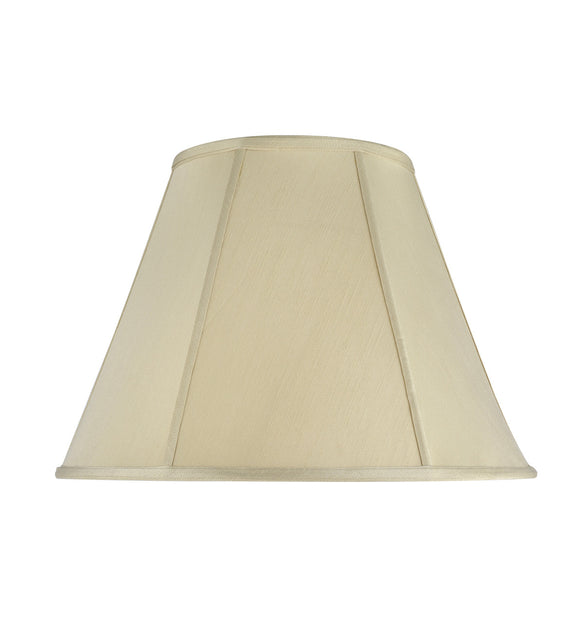 # 35001   Transitional Hexagon Bell Shape Spider Construction Lamp Shade in Beige Textured Fabric, 18