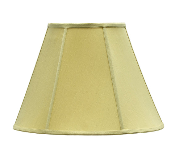 # 35004 Transitional Hexagon Bell Shape Spider Construction Lamp Shade in Beige Fabric, 16