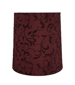 "# 35039 Transitional Bell Shaped Spider Construction Lamp Shade in Red, 14"" wide (12"" x 14"" x 15"")"