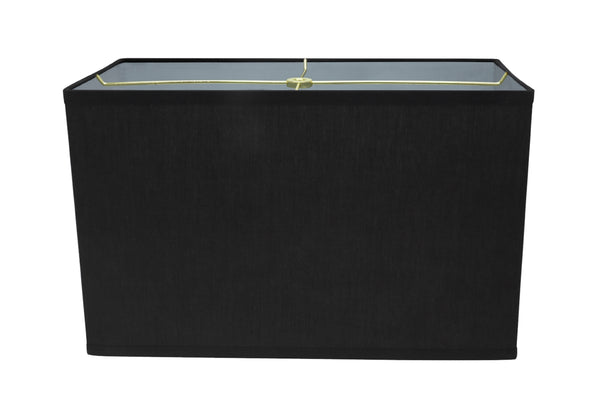 "# 36001 Transitional Rectangular Hardback Shape Spider Construction Shade, Black, 16"" wide, Top: 8"" + 16"" Bottom: 8"" + 16""  Height: 10"""