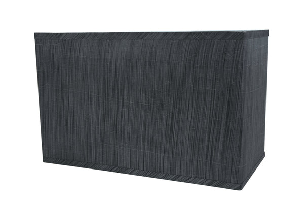 "# 36003 Transitional Rectangular Hardback Shaped Spider Construction Lamp Shade in Grey & Black, 16"" wide, Top: (8"" + 16"") Bottom: (8"" + 16"") x Height: 10"""