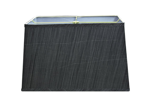 # 36022 Transitional Rectangular Hardback Shaped Spider Construction Lamp Shade in Grey & Black, 16