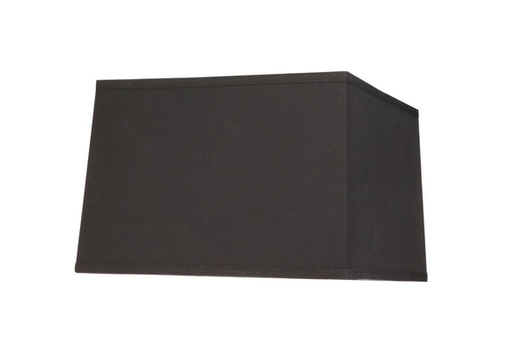 # 36101 Transitional Square Hardback Shaped Spider Construction Lamp Shade in Black, 14