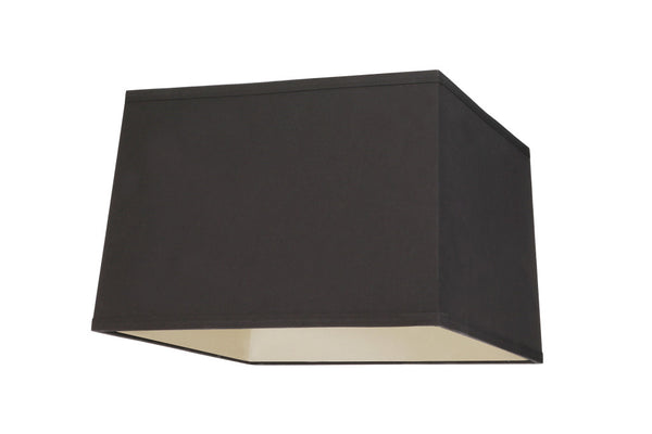 "# 36101 Transitional Square Hardback Shaped Spider Construction Lamp Shade in Black, 14"" + 14"" wide (13"" + 13"" x 14"" + 14"" x 9 1/2"")"