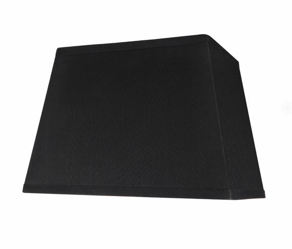 # 36121 Transitional Rectangle Hardback Shape Spider Construction Lamp Shade in Black, 14 1/2