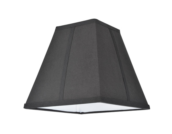 "# 36500 Transitional Square Hardback Empire Shape Spider Construction Lamp Shade, Black, 10"" wide (5 1/4"" x 10""  x 9 1/2"")"