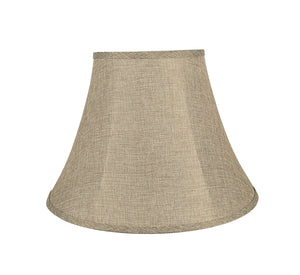 "# 38001 Transitional Bell Shaped Collapsible Spider Construction Lamp Shade in Natural, 18"" wide (9"" x 18"" x 13"")"