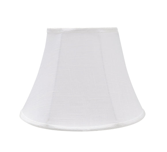 # 38002 Transitional Bell Shaped Collapsible Spider Construction Lamp Shade in Off-White, 13