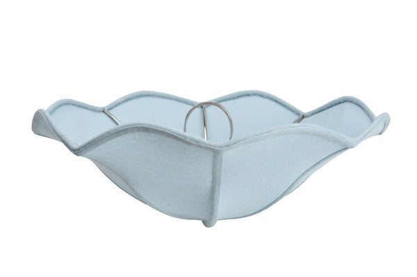 "# 39002 Ceiling Clip-on Lamp Shade (1 Pack), Transitional Design in Light Blue Faux Linen Colored Fabric, 13"" diameter (13"" x 5"")"