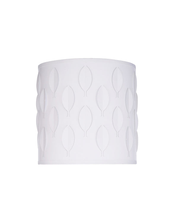# 39200 Transitional Drum (Cylinder) Laser Cut Shaped Spider Construction Lamp Shade in Off-White, 8
