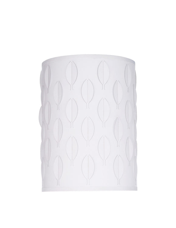 # 39221 Transitional Drum (Cylinder) Laser Cut Shaped Spider Construction Lamp Shade in Off-White, 8