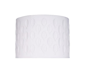 "# 39261 Transitional Drum (Cylinder) Laser Cut Shaped Spider Construction Lamp Shade in Off-White, 12"" wide (12"" x 12"" x 10"")"