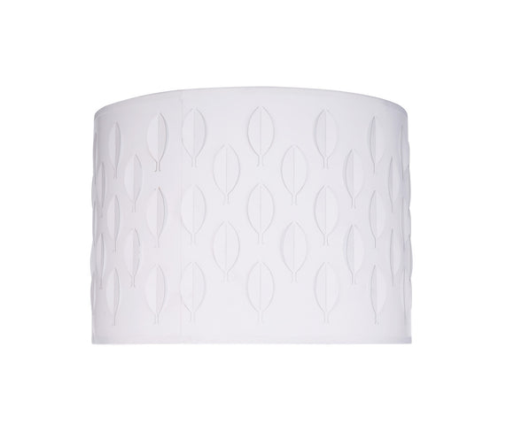 # 39261 Transitional Drum (Cylinder) Laser Cut Shaped Spider Construction Lamp Shade in Off-White, 12