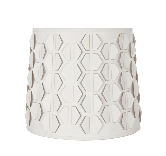 # 39321 Transitional Empire Laser Cut Shaped Spider Construction Lamp Shade in Off-White, 10 1/2