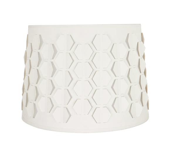 # 39341 Transitional Empire Laser Cut Shaped Spider Construction Lamp Shade in Off-White, 14