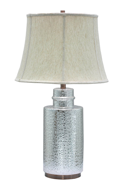 "# 40001   28 ½"" Ceramic Table Lamp in Chrome Finish with Antique Copper accents - Aspen Creative Corporation"