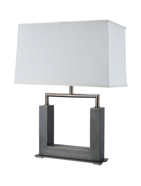 "# 40004 22 ½"" Table Lamp in a Matte Brushed Nickel Finish with  a Hardback Shade - Aspen Creative Corporation"