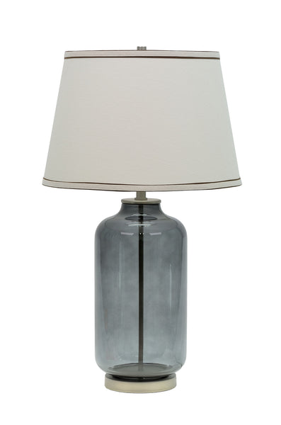 "# 40019 26 ½"" Translucent Glass Table Lamp in Smoke Finish with Hardback Shade - Aspen Creative Corporation"
