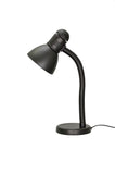 "# 40039-1, One-Light High Desk Lamp with Metal Lamp Shade and Rotary Switch, Modern Design in Black, 19"" High"