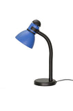 "# 40039-3 One Light Desk Lamp with a Metal Lamp Shade and Rotary Switch, Modern Design in a Black & Blue, 19"" High,  REGULAR PRICE $24.99 - Now..."