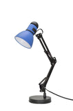"# 40040-3 One Light Swing Arm Task Lamp with Metal Lamp Shade and Rotary Switch, Modern Design in a Black & Blue, 17"" High,  REGULAR PRICE $27.99 - Now..."