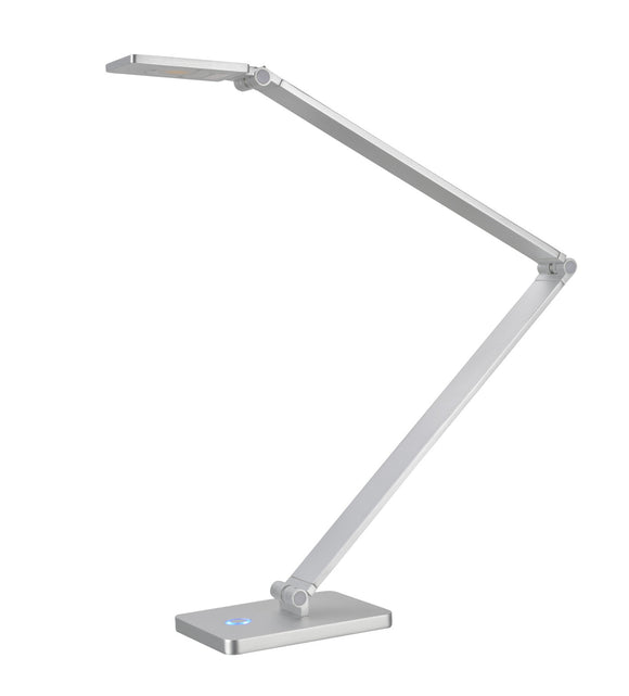 # 40055 Dimmable LED Sleek Desk Lamp, 7 Watts, Contemporary Design, Adjustable Arm in Anodized Aluminum, 25 1/2