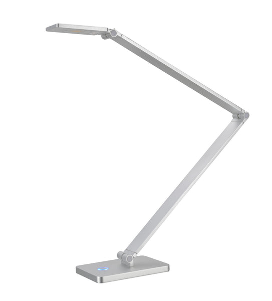 "# 40055 Dimmable LED Sleek Desk Lamp, 7 Watts, Contemporary Design, Adjustable Arm in Anodized Aluminum, 25 1/2"" High"