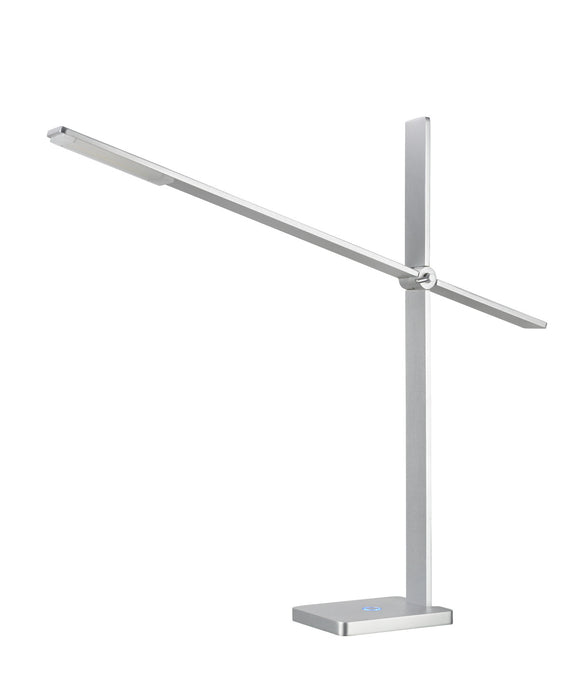 # 40056, Dimmable LED Desk Lamp, 7W Contemporary Design in Anodized Aluminum, 22 1/4