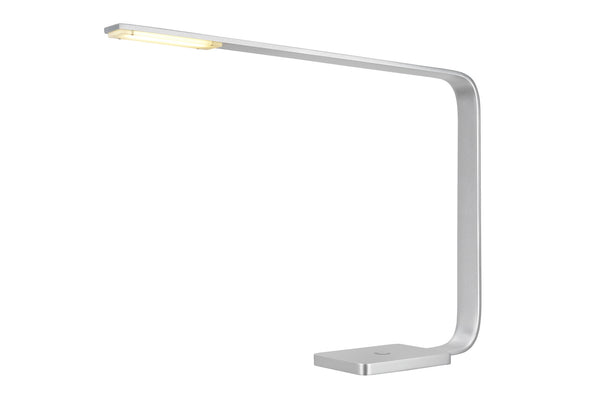 "# 40057 Dimmable LED Desk Lamp, 7 Watts in a Sleek Contemporary Design in Anodized Aluminum, 15 3/4"" High"