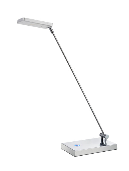 "# 40058  Dimmable LED Desk Lamp, 5 Watts in a Sleek, Contemporary Design in Anodized Aluminum, 18 1/2"" High"