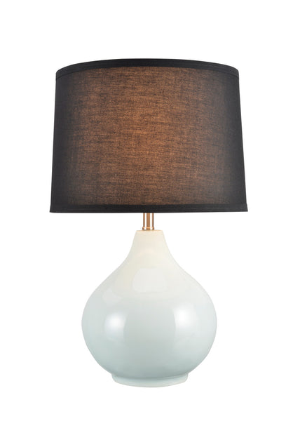 "# 40062-2  21"" High Traditional Ceramic Table Lamp, Pale Sea Green with Black Hardback Empire Shaped Shade, 13"" W, REGULAR PRICE $121.99 - Now..."